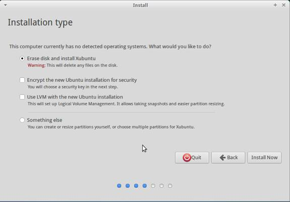 Xubuntu 13.10 Insall Type